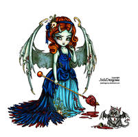 Victorian Succubus - Colored by JadeDragonne