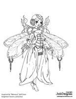 Dragonfly - Lineart by JadeDragonne