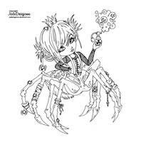 Spider Queen - Lineart by JadeDragonne
