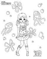 Spongebob  - Lineart by JadeDragonne