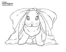 Little Ms. Bunny - Lineart by JadeDragonne