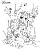 Steampunk frog fairy- Lineart by JadeDragonne