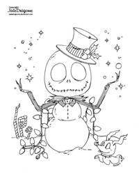 Jack Frost - Lineart by JadeDragonne