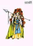 Boudica - Colored by JadeDragonne