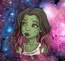 Young Gamora by JadeDragonne