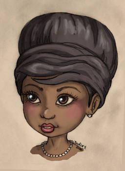 Young Aretha Franklin by JadeDragonne