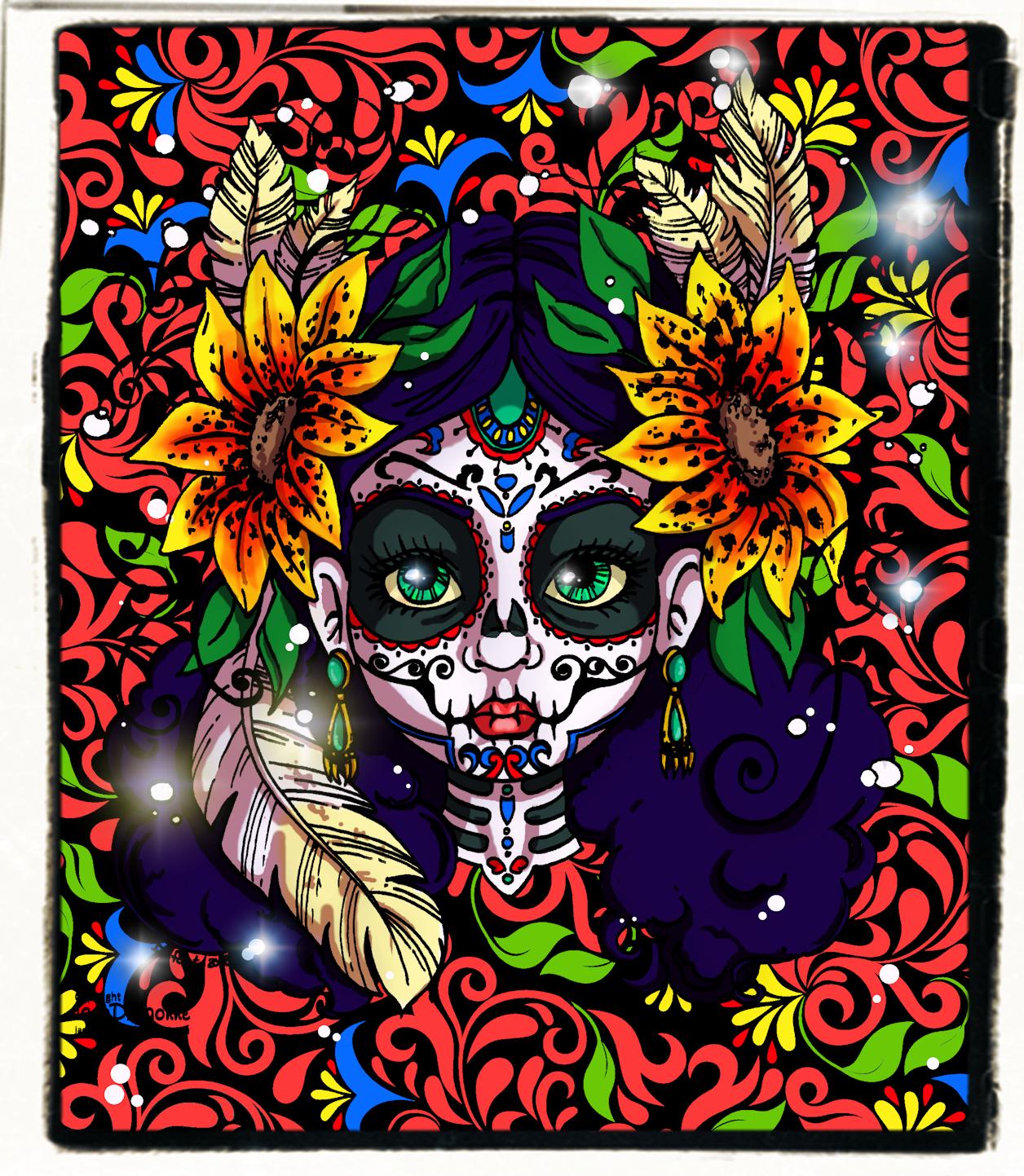 Dias de los muertos - Colored by JadeDragonne