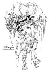 Life - Lineart by JadeDragonne