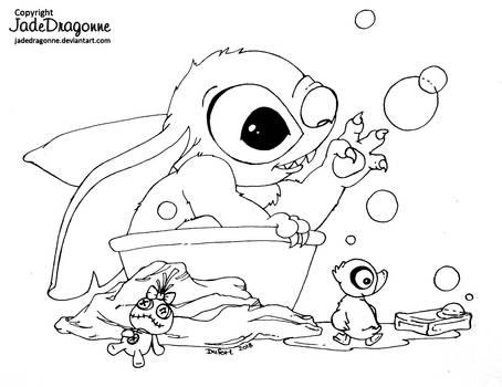 Stitch Bath by JadeDragonne