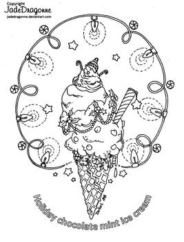 Holiday mint Ice cream by JadeDragonne
