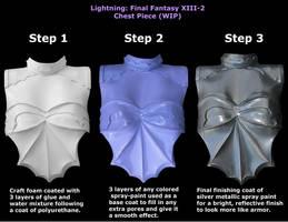 Lightning: Final Fantasy XIII-2 Chest Piece (WIP) by HeyAsianHey