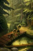 Lost trolls on a bridge by Detkef