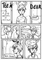 24 hour comic Teen deer Pg1 by Detkef