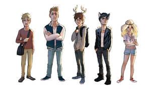 Teen deer lineup by Detkef