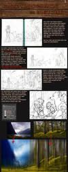 step by step digital painting tutorial by Detkef