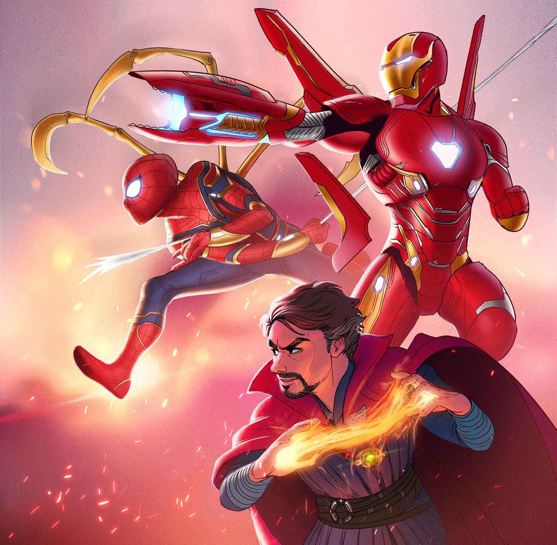 Infinity war: Team red by Detkef