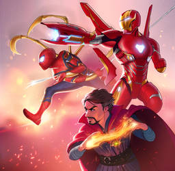 Infinity war: Team red by Detkef