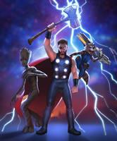 Infinity war: Team purple by Detkef