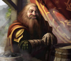 Lord of the Rings: TCG - Gimli by AnthonyFoti