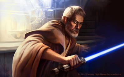 Star Wars: TCG - Obi Wan Kenobi by AnthonyFoti