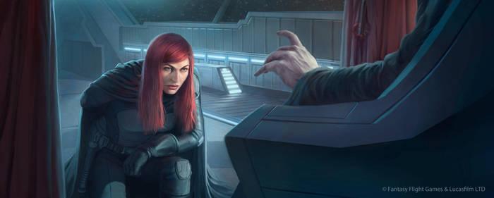 Star Wars: TCG - Mara Jade, The Emperor's Hand by AnthonyFoti