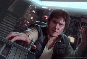 Star Wars: TCG - Han Solo, Pilot by AnthonyFoti