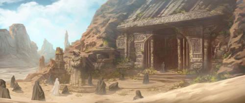 Desert Temple by AnthonyFoti