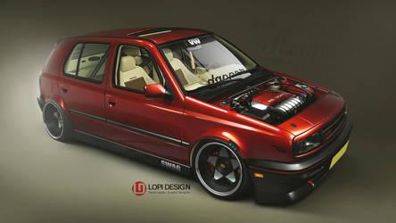 VW Golf MKIII dapper by Lopi-42