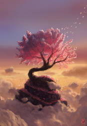 Pink Tree hill by MaximeChiasson