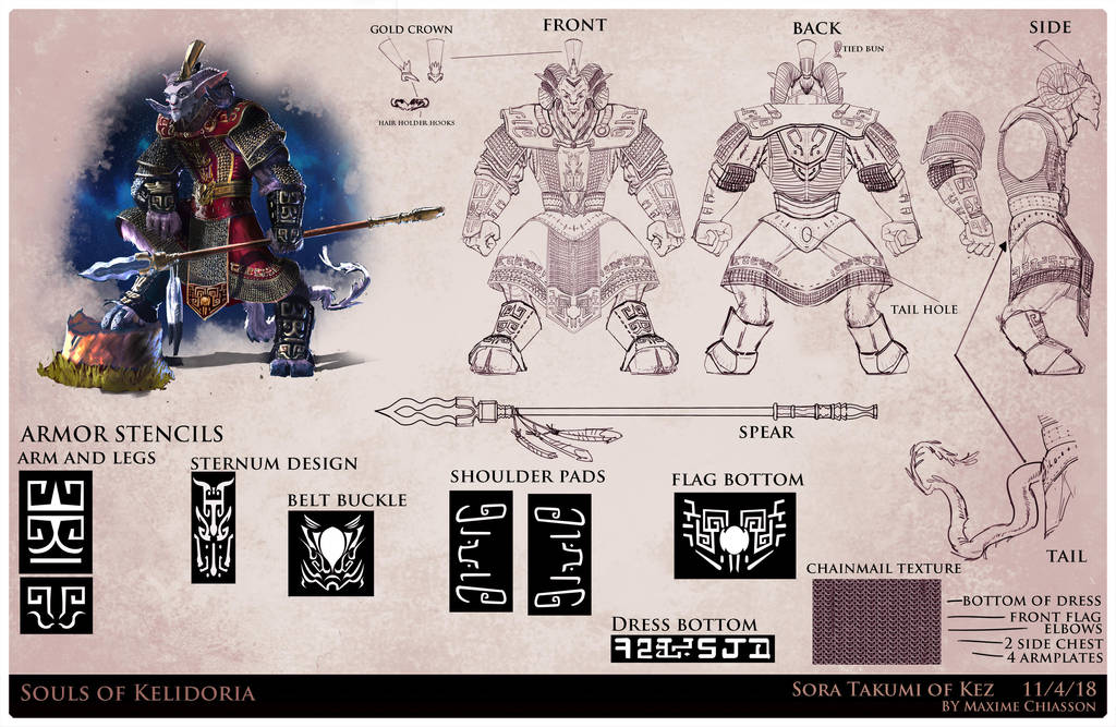 Sora Takumi Character sheet by MaximeChiasson