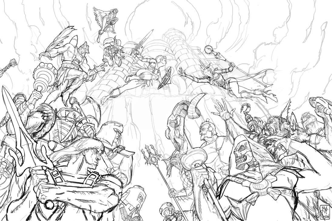 Wars of Eternia -Sketch by MaximeChiasson
