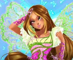 FanArt - Flora Butterflix by MYKProject