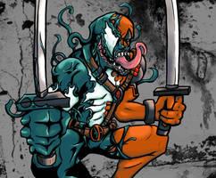 Symbiote Deadpool by RedGrimRune