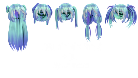 TDA Hair Edits Part 2 + DL by Lumanaera