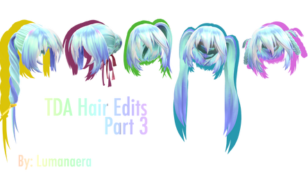 TDA Hair Edits 3 + DL by Lumanaera