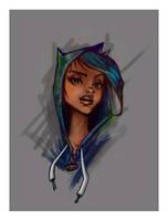 street batgirl-color by kiska242