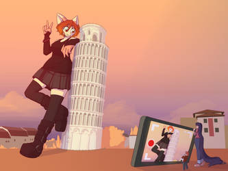 #toweringtourist by chibiBiscuit