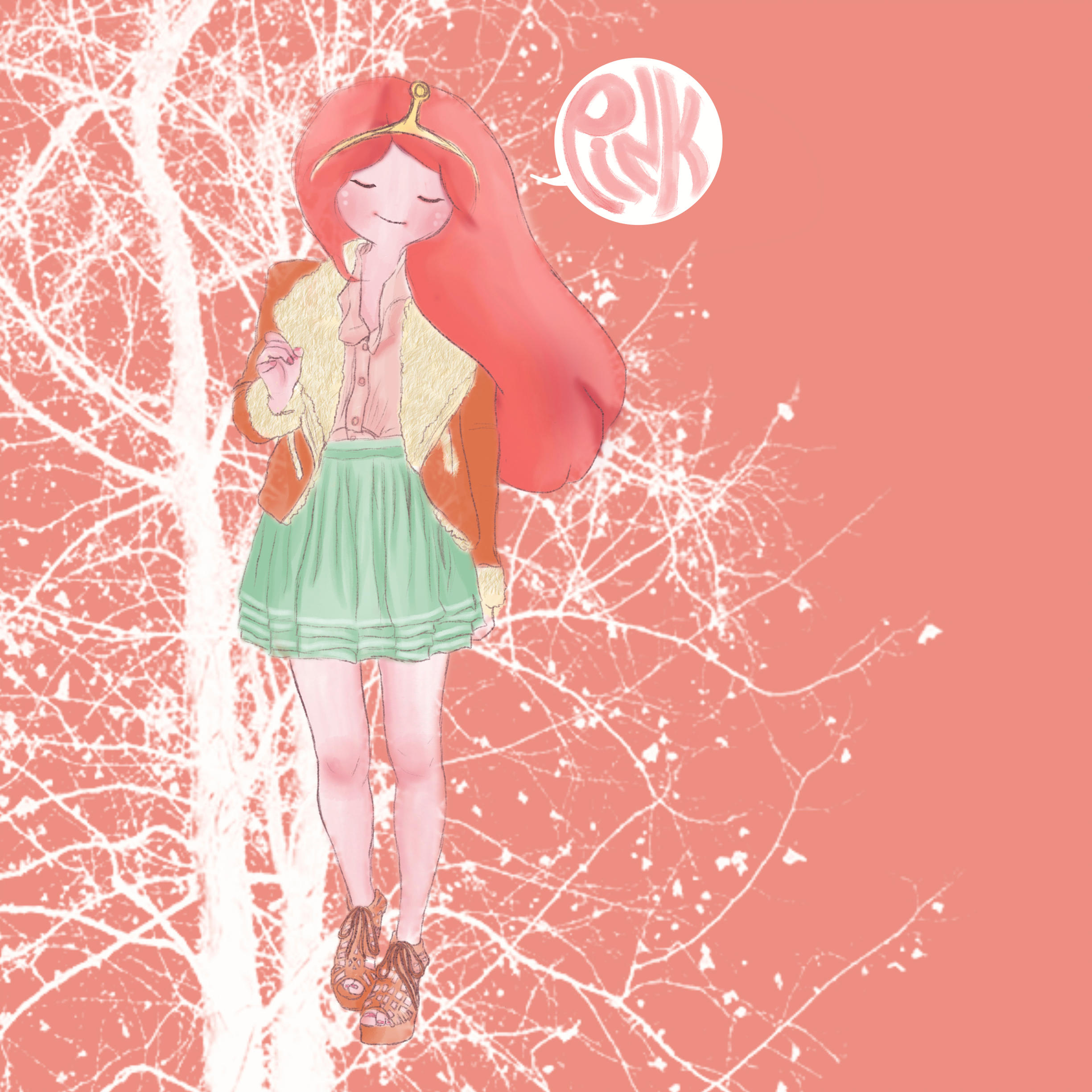 Princess Bubblegum by iwannakissallama