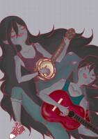 Marceline meets Marshall Lee by iwannakissallama