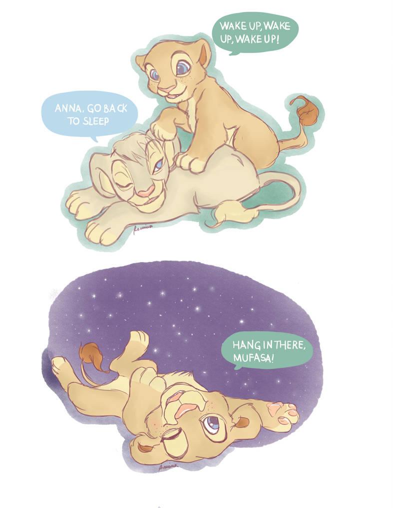 Lion king-Frozen 1 by iwannakissallama