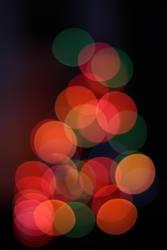 Christmas tree lights bokeh by kupenska
