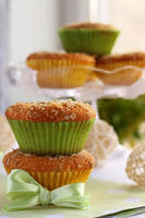 Coconut muffins with marzipan2 by kupenska