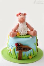 Mini sheep cake by kupenska