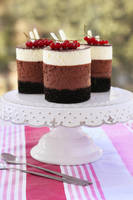 Triple chocolate mousse cakes by kupenska