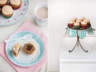 Salted Caramel Mocha cupcakes by kupenska