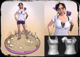 Sakirah Rodaun Game Character by KevinMassey