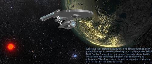 Abrams Enterprise over Nod Kartha by DalekOfBorg