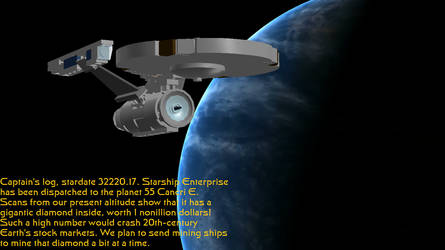 Enterprise over 55 Cancri E by DalekOfBorg