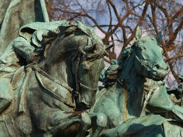 Galloping Horses Closeup Stock by Ghost-Rebel-Stock