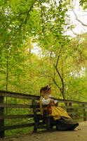 Yellow Brimmed Lady STOCK by Ghost-Rebel-Stock